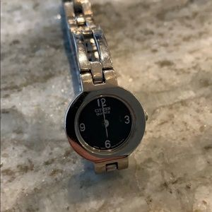 Citizen women's silver black watch